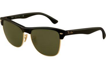 Ray-Ban RB4175 Sunglasses 877-5716 - Demi Shiny Black Arista Frame, Crystal Green Lenses