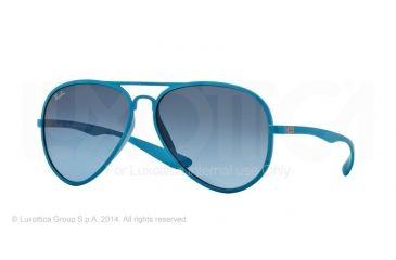 Ray-Ban RB4180 Progressive Prescription Sunglasses RB4180-60848F-58 - Lens Diameter 58 mm, Frame Color Metallized Azure