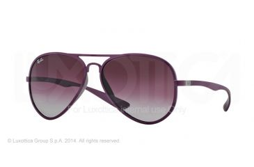Ray-Ban RB4180 Progressive Prescription Sunglasses RB4180-60874Q-58 - Lens Diameter 58 mm, Frame Color Metallized Violet