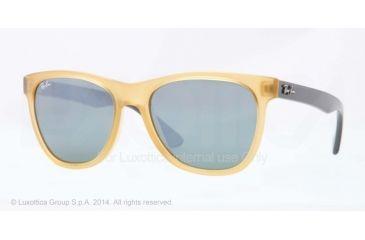 Ray-Ban RB4184 Sunglasses 604340-54 - Opal Yellow Frame, Grey Mirror Silver Lenses