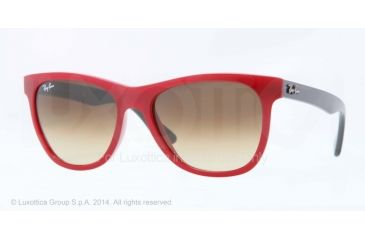 Ray-Ban RB4184 Sunglasses 604485-54 - Red Frame, Brown Gradient Lenses