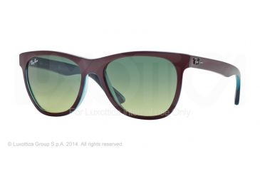 Ray-Ban RB4184 Sunglasses 61143M-54 - Top Bordo' On Trasparent Oil Frame, Green Gradient Green Lenses