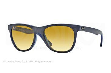 Ray-Ban RB4184 Sunglasses 6115X4-54 - Top Dark Grey On Opal Blue Frame, Yellow Grad Brown Photo Lenses