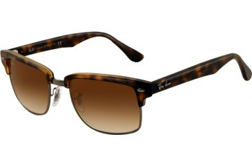 Ray-Ban RB4190 Progressive Prescription Sunglasses RB4190-878-51-5219 - Lens Diameter 52 mm, Frame Color Semi Gloss Havana/Gunmetal