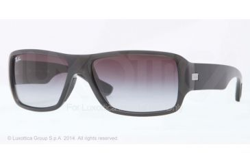 Ray-Ban RB4199 Sunglasses 60068G-61 - Shiny Grey Frame, Grey Gradient Lenses