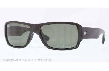 Ray-Ban RB4199 Sunglasses 601/9A-61 - Black Frame, Polar Green Lenses