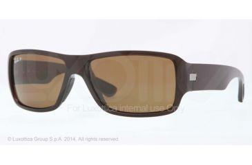Ray-Ban RB4199 Sunglasses 714/83-61 - Shiny Brown Frame, Polar Brown Lenses