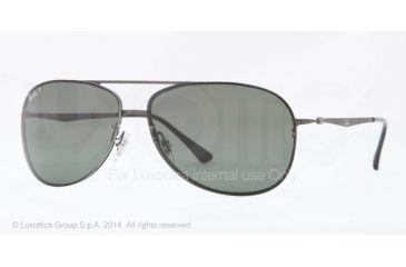 Ray-Ban RB8052 Sunglasses 154/9A-61 - Sand Dark Gunmetal Frame, Polar Green Lenses
