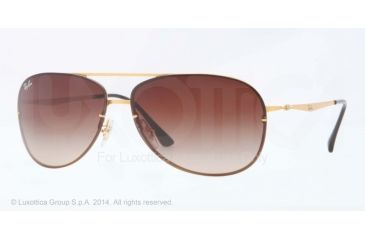 Ray-Ban RB8052 Sunglasses 157/13-61 - Sand Shiny Gold Frame, Brown Gradient Lenses