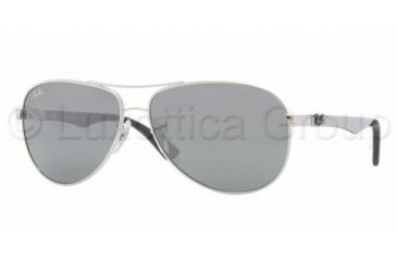 Ray-Ban RB8313 Sunglasses 003/40-5813 - Silver Frame, Crystal Gray Mirror Lenses