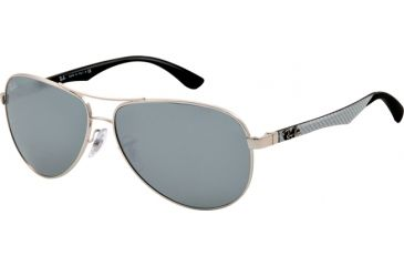 Ray-Ban RB8313 Sunglasses 003/40-6113 - Silver Frame, Crystal Gray Mirror Lenses