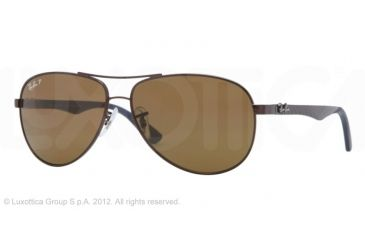 Ray-Ban RB8313 Sunglasses 014/N6-6113 - Brown Frame, Crystal Brown Lenses