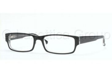 0ead1ad1aa Ray-Ban RX 5069 Eyeglasses Styles - Top Black On Transparent Frame w Non