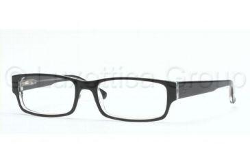 Ray-Ban RX 5069 Eyeglasses Styles - Top Black On Transparent Frame w/Non-Rx 53 mm Diameter Lenses, 2034-5317