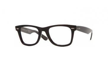 Ray-Ban RX 5121 Eyeglasses Styles - Shiny Black Frame w/Non-Rx 47 mm Diameter Lenses, 2000-4722