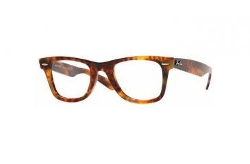Ray-Ban RX 5121 Eyeglasses Styles - Yellow Havana Frame w/Non-Rx 50 mm Diameter Lenses, 2291-5022