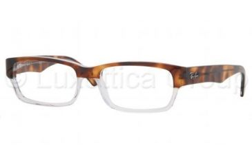 Ray-Ban RX 5163 Eyeglasses Styles Havana Top On Trasparent Frame w/Non-Rx 54 mm Diameter Lenses, 2192-5416