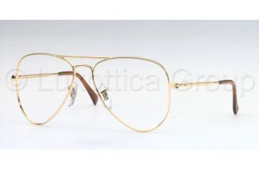 Ray-Ban RX 6049 Eyeglasses Styles - Arista Frame w/Non-Rx 52 mm Diameter Lenses, 2500-5214