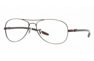 8d3e0e2449be Ray-Ban RX8403 Progressive Eyeglasses - Brown Frame / 56 mm Prescription  Lenses, 2511