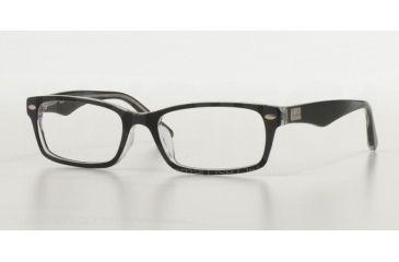 c76fd5c3158 Ray-Ban RX5206F Eyeglass Frames 2034-54 - Top Black On Transparent Frame