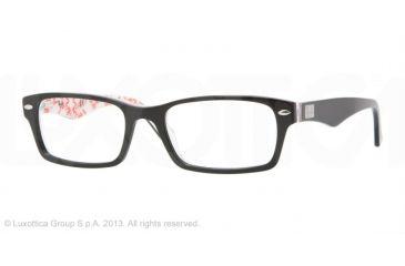 Ray-Ban RX5206F Bifocal Prescription Eyeglasses 5014-54 - Top Black On Texture White Frame