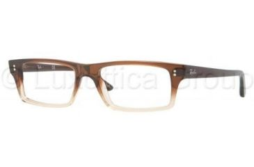 Ray-Ban RX5237 Single Vision Prescription Eyewear 5059-5117 - Brown Grad/Light Brown