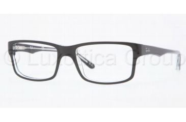 22a5713c1c7 Ray-Ban RX5245 Single Vision Prescription Eyewear 2034-5217 - Top Black On  Transpare