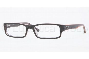 Ray-Ban RX5246 Progressive Prescription Eyeglasses 5091-4816 - Brown On Brown/Orange/
