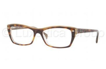 Ray-Ban RX5255 Progressive Prescription Eyeglasses 5075-5116 - Top Havana Frame, Demo Lens Lenses