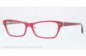 Ray-Ban RX5256 Eyeglass Frames 5189-52 - Top Fuxia On Gray Frame, Demo Lens Lenses