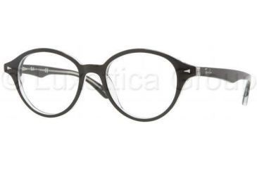 Ray-Ban RX5257 Progressive Prescription Eyeglasses 2034-4918 - Top Black On Transparent Frame