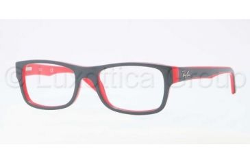 Ray-Ban RX5268 Bifocal Prescription Eyeglasses 5180-4817 - Top Grey on Red Frame, Demo Lens Lenses