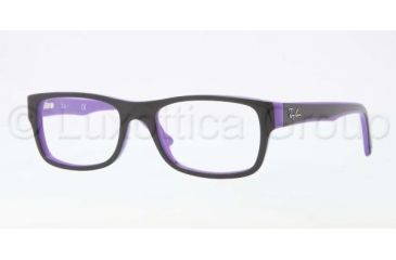 Ray-Ban RX5268 Eyeglass Frames 5181-4817 - Top Black On Violet Frame, Demo Lens Lenses