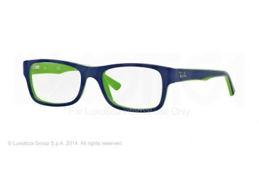 Ray-Ban RX5268 Bifocal Prescription Eyeglasses 5182-48 - Top Blue On Green Frame