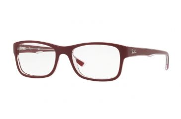 9edab8ff31 Ray-Ban RX5268 Prescription Eyeglasses 5738-50 - Top Bordeaux On Trasparent  Frame