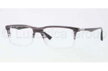 Ray-Ban RX5269 Bifocal Prescription Eyeglasses 5192-5117 - Striped Gray on Ice Frame, Demo Lens Lenses