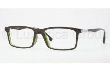 Ray-Ban RX5269F Eyeglass Frames 2383-5317 - Top Havana / Green Frame, Demo Lens Lenses