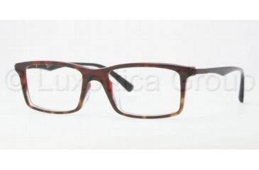 bef60a40812 Ray-Ban RX5269F Single Vision Prescription Eyeglasses 5094-5317 - Havana on  Red