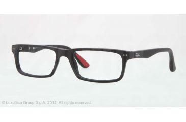 Ray-Ban RX5277 Prescription Eyeglasses 2077-52 - Sandblasted Black Frame, Demo Lens Lenses