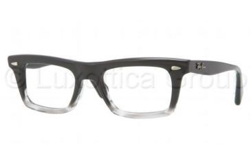 Ray-Ban RX5278 Eyeglass Frames 5127-5119 - Black Striped Gray Frame, Demo Lens Lenses