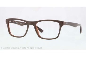 Ray-Ban RX5279 Eyeglass Frames 5226-53 - Top Brown On Variegated Brown Frame, Demo Lens Lenses
