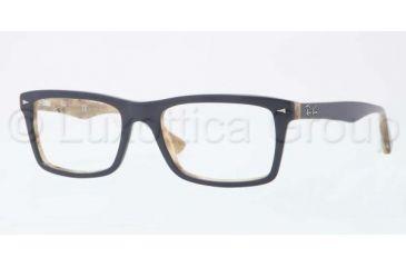 Ray-Ban RX5287 Single Vision Prescription Eyeglasses 5131-5218 - Top Blue/Beige Variega Frame, Demo Lens Lenses