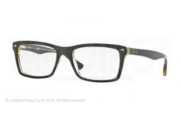 Ray-Ban RX5287 Single Vision Prescription Eyeglasses 5373-52 - Top Brown On Trasparent Yellow Frame