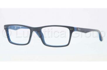 Ray-Ban RX5288 Bifocal Prescription Eyeglasses 5137-5018 - Top Grey on Blue Frame, Demo Lens Lenses