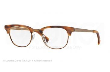 Ray-Ban RX5294 Single Vision Prescription Eyeglasses 5429-49 - Matte Stripped Havana Brown Frame
