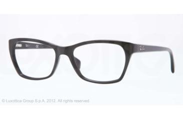Ray-Ban RX5298 Progressive Prescription Eyeglasses 2000-53 - Shiny Black Frame, Demo Lens Lenses