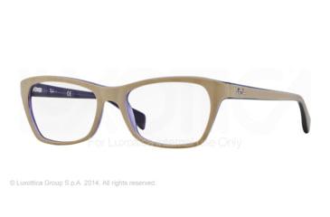 Ray-Ban RX5298 Progressive Prescription Eyeglasses 5387-53 - Top Matte Beige On Trasp Viole Frame