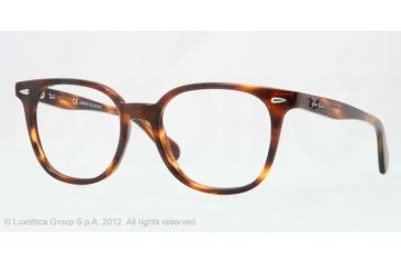 Ray-Ban RX5299 Bifocal Prescription Eyeglasses 2144-53 - Striped Havana Frame, Demo Lens Lenses