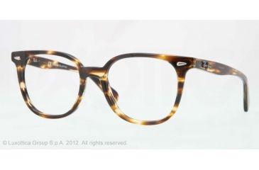 Ray-Ban RX5299 Bifocal Prescription Eyeglasses 5209-53 - Trasp.light Havana Brown Frame, Demo Lens Lenses