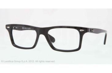 Ray-Ban RX5301 Progressive Prescription Eyeglasses 2000-51 - Shiny Black Frame, Demo Lens Lenses